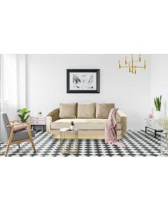 Kenpark 3-Sitzer Sofa mit Samtbezug Taupe