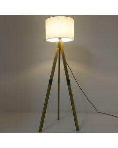 Wanda Stehlampe Holz & Weiß