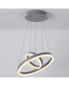 Polux LED Deckenleuchte aus Metall Grau