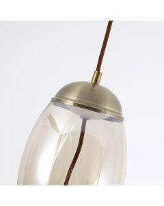 Odalida LED Pendelleuchte aus Rauchglas