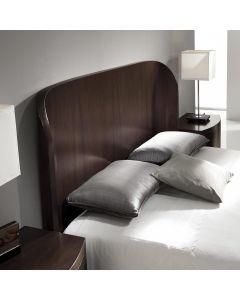 Mahuva Kopfteil Bett 140 cm aus dunklem Holz