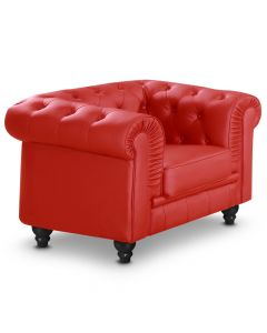 Grand fauteuil Chesterfield - Sessel Rot