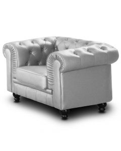 Grand fauteuil Chesterfield - Sessel Silber