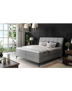 Aderito Bett mit Stauraum, Stoffbezug Grau 160cm