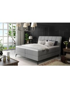 Aderito Bett mit Stauraum, Stoffbezug Grau 140cm
