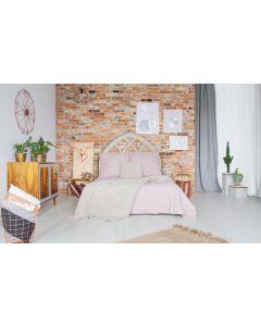 Aladin Kopfteil Bett 140cm aus Holz Weiß