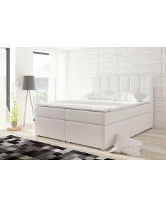 Balero Bett mit Stauraum und Matratze 180cm Kunstlederbezug Weiß