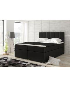Balero Bett mit Stauraum und Matratze 160cm Kunstlederbezug Schwarz