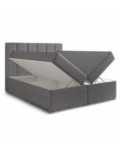 Balero Bett mit Stauraum und Matratze 160cm Stoffbezug Grau