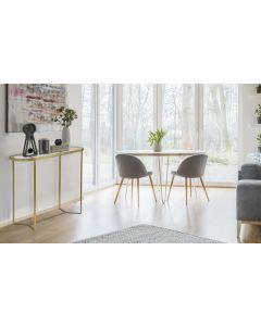 Totem Konsolentisch aus Glas mit goldener Metallstruktur