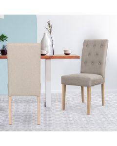Costel Set mit 2 Stühlen, Stoffbezug Beige