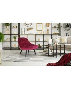 Danios Set mit 2 Sesseln mit Samtbezug Rot