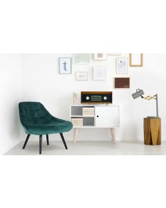 Danios Set mit 2 Sesseln mit Samtbezug Grün