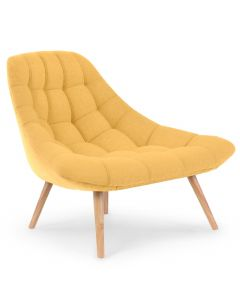 Danios Set mit 2 Sesseln mit Stoffbezug Gelb