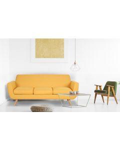 Danube Skandinavisches 3-Sitzer Sofa mit Stoffbezug Gelb