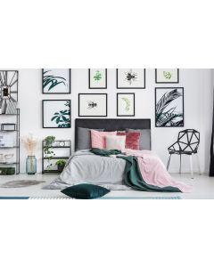 Diam Kopfteil Bett 160cm mit Kunstlederbezug Schwarz