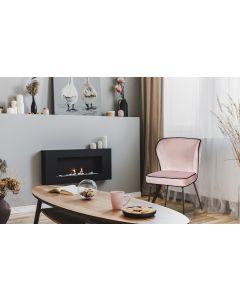 Elsa Set mit 2 Stühlen mit Samtbezug Rosa