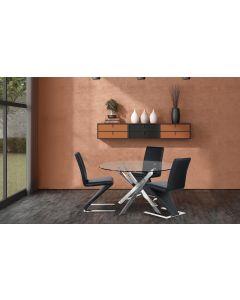 Flash Set mit 2 Stühlen Schwarz