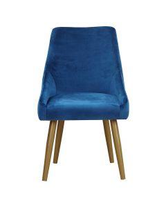 Fokora Set mit 2 Sesseln, Samtbezug Blau