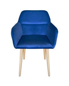 Fraydo Skandinavischer Stuhl / Sessel mit Samtbezug Mint