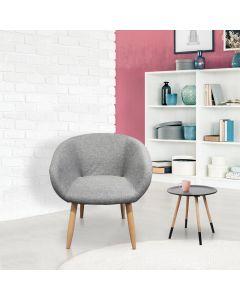 Frost Stuhl / Sessel im skandinavischen Stil Grau