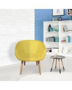 Frost Stuhl / Sessel im skandinavischen Stil Gelb