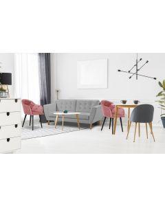 Gibus 3-Sitzer Sofa mit Stoffbezug Grau