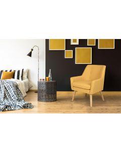 Gustav Skandinavischer Sessel mit Stoffbezug Gelb