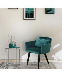 Gybson Set mit 2 Sesseln im skandinavischen Stil mit Samtbezug Grün