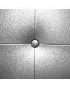 Luxor Kopfteil Bett 160cm mit Kunstlederbezug Silber