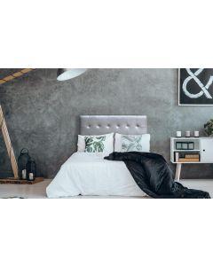 Luxor Kopfteil Bett 140cm mit Kunstlederbezug Silber