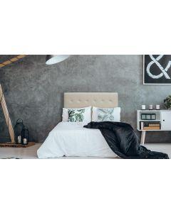 Luxor Kopfteil Bett 140cm mit Kunstlederbezug Beige