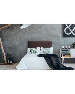 Luxor Kopfteil Bett 140cm mit Kunstlederbezug Braun
