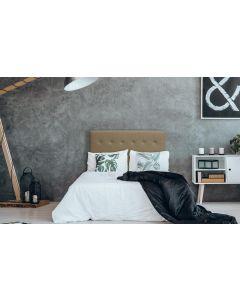 Luxor Kopfteil Bett 140cm mit Kunstlederbezug Taupe