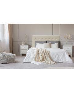 Luxor Kopfteil Bett 160cm mit Kunstlederbezug Beige