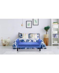 Idor Sitzbank mit Samtbezug Blau