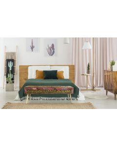 Jadida Bettbank mit Stoffbezug Bronze