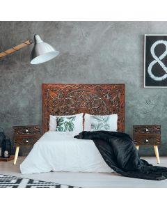 Koutoubia India Kopfteil Bett 160cm Rotes Kupfer
