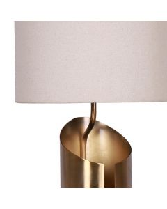 Gaia Tischlampe Kupfer und Weiß