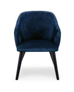 Liberto Set mit 2 Sesseln mit Samtbezug Blau