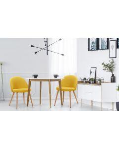 Maury Set mit 4 Stühlen, Stoffbezug Gelb