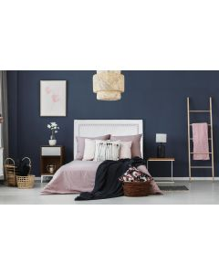 Meghan Kopfteil Bett 140cm mit Kunstlederbezug Weiß