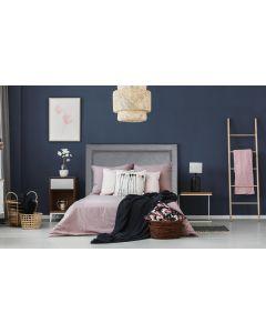 Meghan Kopfteil Bett 160cm mit Kunstlederbezug Grau
