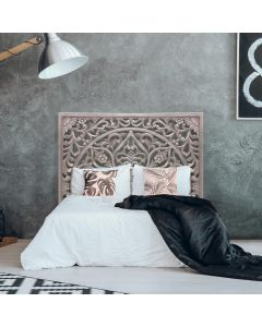 Menara Kopfteil Bett aus Holz 160cm Braun