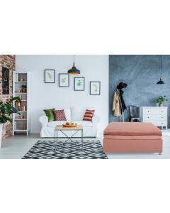 Napoli Ausziehbarer Polsterhocker (Einzelbett) mit Samtbezug Rosa