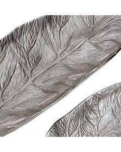 Natura Set mit 3 Schalen in Blattform Nickel