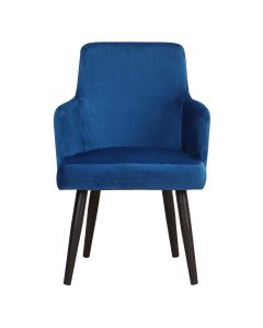 Neiva Set mit 2 Sesseln, Samtbezug Blau