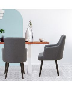 Neiva Set mit 2 Sesseln, Stoffbezug Dunkelgrau