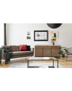 Panara Sideboard mit 3 Türen und 3 Schubladen Helle Eiche