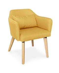 Skandinavischer Stuhl / Sessel Dantes Fabrics Taupe